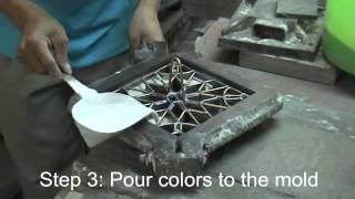 getlinkyoutube.com-How to make cement tile