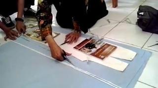 getlinkyoutube.com-Cara membuat Celana Panjang (cut)