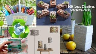 getlinkyoutube.com-Reciclaje de TetraPack +100 Ideas / Recycling Tetra-Pak +100 Ideas