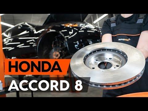 Как заменить передние тормозные диски наHONDA ACCORD 8 (CU2)[ВИДЕОУРОК AUTODOC]