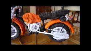 getlinkyoutube.com-This Was That Way  I created the 3D Origami Motorcycle