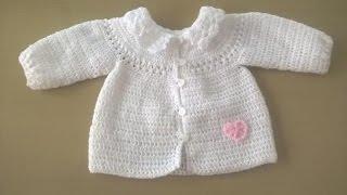 getlinkyoutube.com-Chaqueta de bebé con canesu redondo