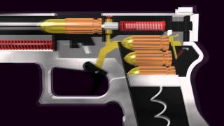 getlinkyoutube.com-3D Glock Semi- Automatic Pistol (Function Animation)
