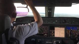 "getlinkyoutube.com-GULFSTREAM G650ER ""MY FIRST LANDING"" - JULY 2015"