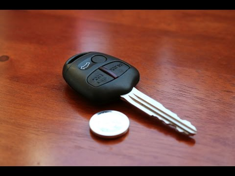 Mitsubishi Remote Key - Battery Replacement