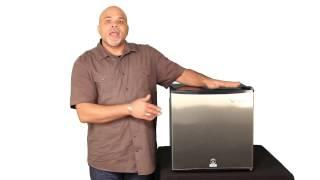 EdgeStar 1.1 Cu. Ft. Stainless Steel Refrigerator/Freezer w/ Lock- CRF150SS