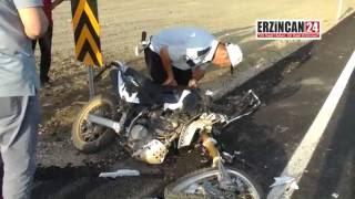 Parçalara Ayrılan Motosikletin Sürücüsü Ağır Yaralandı