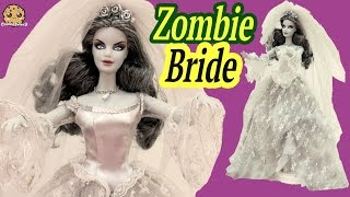 getlinkyoutube.com-ZOMBIE BRIDE Haunted Beauty Gold Label Collection Collectors Barbie Doll Review Cookieswirlc Video