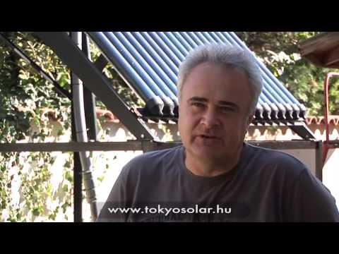 TokyoSolar napkollektor rendszer tapasztalatok   Tóth Zsolt, Bag