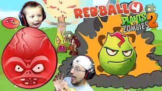 getlinkyoutube.com-ZOMBIE BALL!? Chase/Dad play Redball 4: THE BOSS + PVZ 2: Lava Guava New Plant & Lost City World