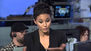 getlinkyoutube.com-Raw video: Actress Emmanuelle Chriqui on future 'Entourage' movie