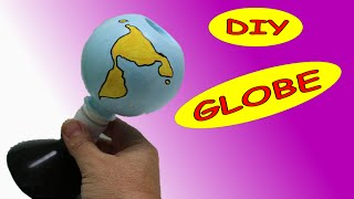 DIY Recycled Crafts Ideas: Earth Globe  out of Plastic Bottles Recycled Bottles Crafts