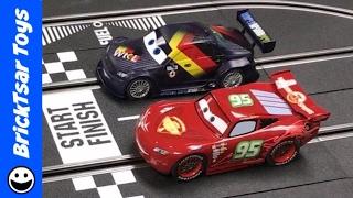 getlinkyoutube.com-Carrera Digital 132 Slot Cars HAUL + Racing Lightning McQueen vs Max Schnell
