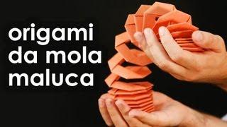 getlinkyoutube.com-Mola maluca de origami (brinquedo de dobradura para iniciantes)