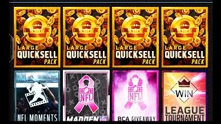 getlinkyoutube.com-Madden NFL 16 Mobile Gameplay - LARGE QUICKSELL PACK OPENINGS & MORE! Head to Head Tourney Games