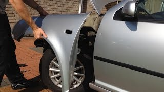 getlinkyoutube.com-VW Golf MK4 - how to remove/replace front wing video