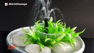 getlinkyoutube.com-Table Top Waterfall / Fountain   DIY How to make   JK Arts 889