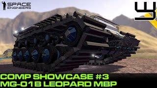 getlinkyoutube.com-Space Engineers - MG-01B 'Leopard' Spotlight (Planet Comp)