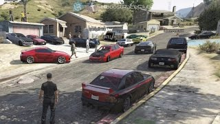 getlinkyoutube.com-Grand Theft Auto V Online (360)   Street Car Meet Pt.12   Road Trip, Drag Racing, Cops & More