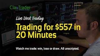 getlinkyoutube.com-Live Day Trading - 20 Minutes, $572 Profit