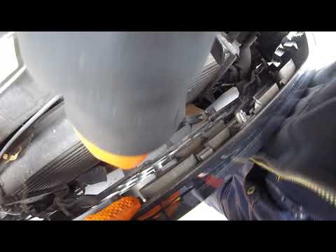 Как снять переднюю решетку Nissan Pathfinder 2 5 to remove the front grille