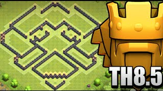 getlinkyoutube.com-Clash of Clans : Town Hall 8.5 (TH8.5) War/Trophy Base