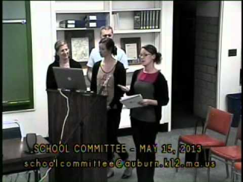 School Committee meeting from May 15, 2013
