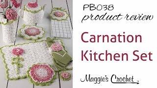 getlinkyoutube.com-Carnation Kitchen Set Crochet Pattern Product Review PB038