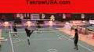 getlinkyoutube.com-Takraw King's Cup, profesional training, kick, roll spike