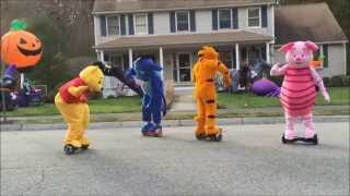getlinkyoutube.com-Hit The Quan Disney Style Pooh Tigger Eeyore Piglet ON HOVERBOARDS