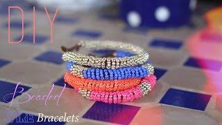 getlinkyoutube.com-DIY : BRACELETS EN PERLES DE ROCAILLES SPIRALES - beaded wire bracelet (english subs).