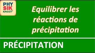 Les réactions de précipitation