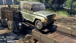 getlinkyoutube.com-SPINTIRES 2014 - The Coast Map - How to Load the UAZ in the Utility Trailer