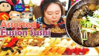 getlinkyoutube.com-BJ애봉이(Aebong-ee)쇼슨모듬초밥&냉모밀