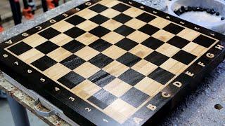 "getlinkyoutube.com-Making a ""Chess"" end grain cutting board"