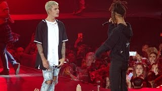 getlinkyoutube.com-Justin Bieber feat. Jaden Smith -  Never Say Never LIVE AT MADISON SQUARE GARDEN (July, 19)