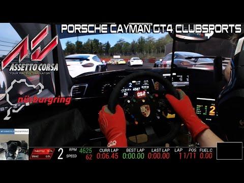 Assetto Corsa Race - New Porsche Cayman GT4 Nordschleife
