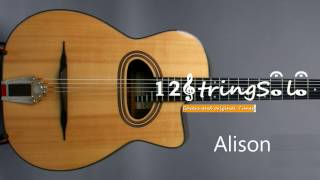 "♫♪ Elvis Costello ""Alison"" cover by 12Stringsolo"