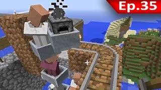 Tackle⁴⁸²⁶ Minecraft (1.7.9) #35 - Iron Golem Farm: ลักพาตัว NPC