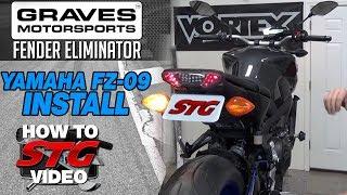 getlinkyoutube.com-How to Install Graves Fender Eliminator on Yamaha FZ-09 by Sportbiketrackgear.com