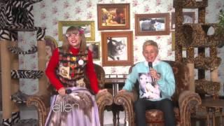 getlinkyoutube.com-Taylor Swift On Ellen : 'Kitty Corner' Taylor Swift With Ellen Degeneres