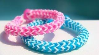 getlinkyoutube.com-Rainboow Loom - Savannah Bracelet (Original Design) English version - Loom bands