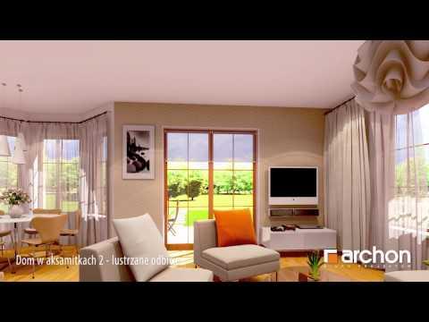 Dom w aksamitkach - lustrzane odbicie Wirtualny spacer po wnętrzu - Projekt domu ARCHON+