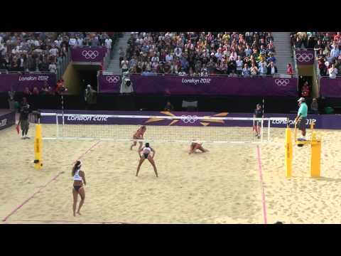 Voley Playa Femenino Brasil vs República Checa -- Londres 2012