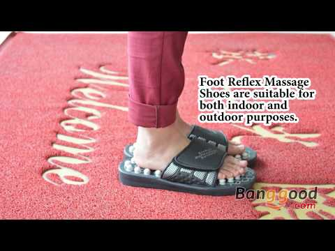 Foot Reflex Massage Acupuncture Healthy Slippers Shoes Massager - Banggood.com
