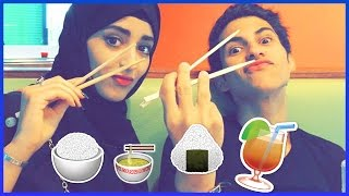 getlinkyoutube.com-► نجرب الاكلة اليابانية سوشي  !!!! Trying sushi