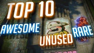 CS:GO - TOP 10 AWESOME UNUSED & RARE SKINS