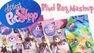 getlinkyoutube.com-Littlest Pet Shop Blind Bag Mash Up Cutest Pets Party Stylin Pets Paint Splashing Pets