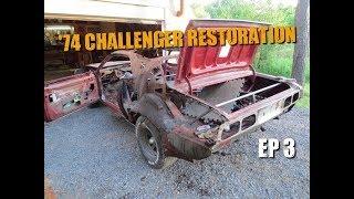 getlinkyoutube.com-74 Dodge Challenger Restoration #3 - Stripping the Car