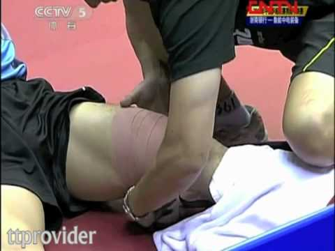 Chinese Superleague 2011: Timo Boll-Zhang Jike (Semifinal) // Zhang Jike gets injured